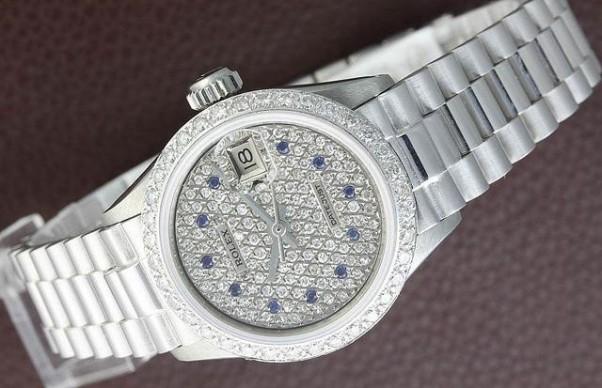Gambar Jam Tangan Rolex Datejust Ladies Emas Putih