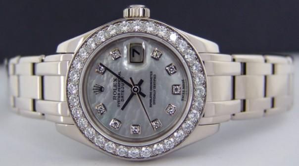 Gambar Jam Tangan Rolex Ladies Masterpiece Emas Putih