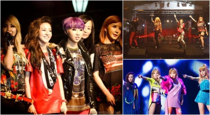 Gambar Aksi Panggung Grup Band Korea, 2NE1
