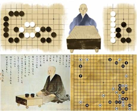Gambar Honinbo Shusaku Sebagai Doodle Google