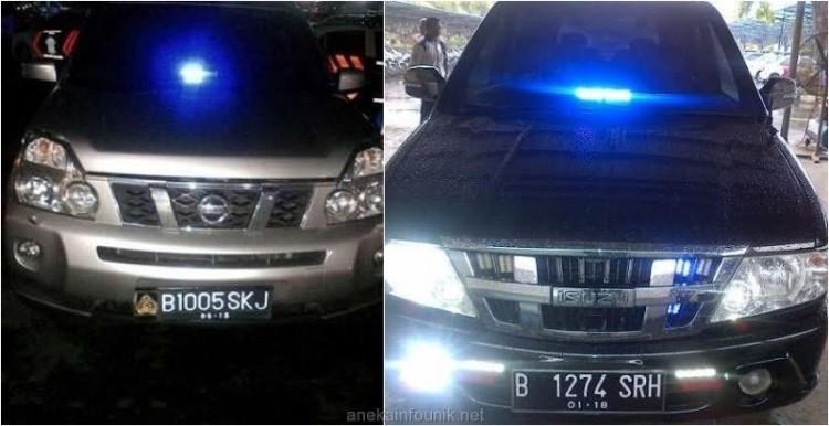 Gambar Mobil Yang Ditilang Karena Memakai Lampu Rotor