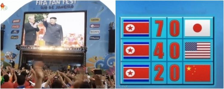 Aksi Propaganda TV Korut Tentang Piala Dunia 2014 Brasil