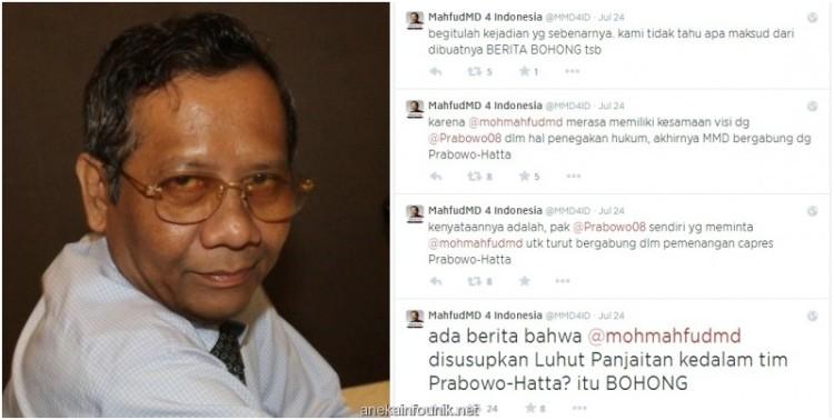 Tim Prabowo: Mahfud MD Penyusup dan Musuh Dalam Selimut