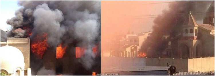 Foto Gereja Tua yang Dibakar ISIS di Kota Mosul
