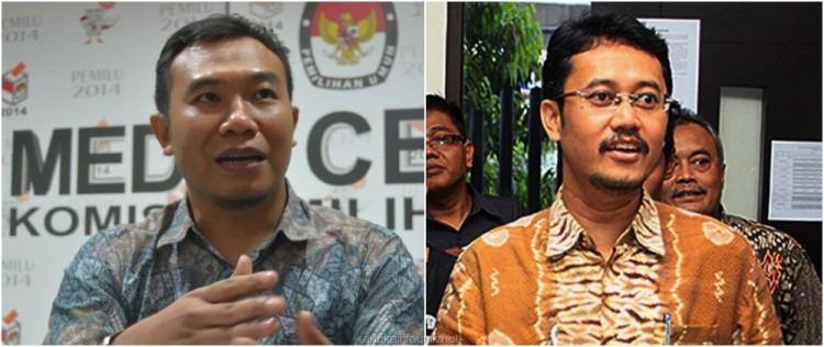 Foto Komisioner KPU Sigit Pamungkas dan Ferry Rizki Kurniansyah