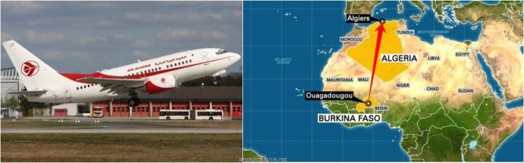 Foto Pesawat Air Algerie Yang Hilang dan Rute Penerbangan