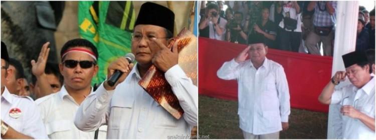 Foto Prabowo Pidato Pernyataan Sikap di Rumah Polonia