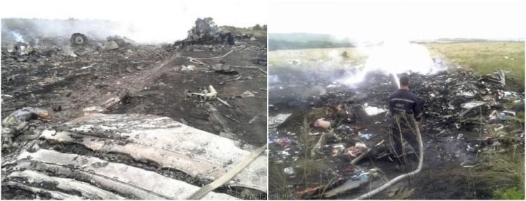 Gambar Hancurnya Pesawat Malaysia Airlines MH17