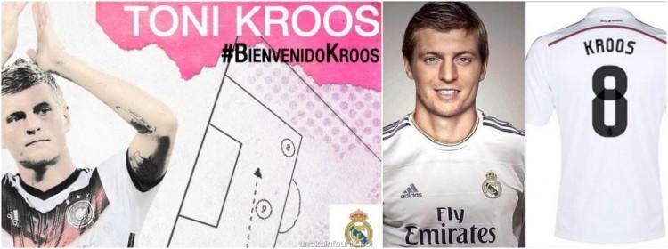 Gambar Kostum Nomor 8 Toni Kroos di Real Madrid