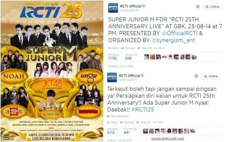 Harga Tiket Super Junior-M Di Ultah RCTI Belum Diumumkan