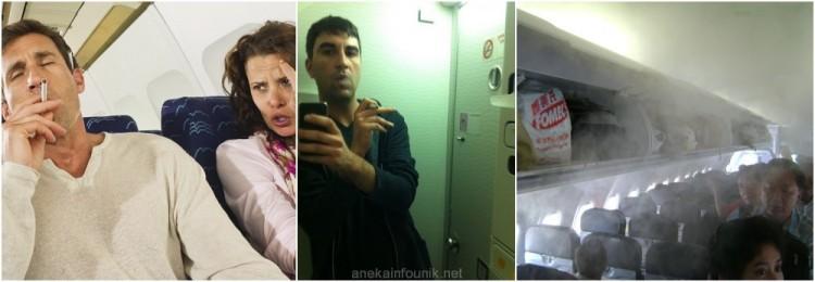 Ilustrasi Akibat Merokok di Dalam Pesawat Citilink