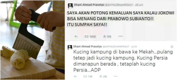 Isi Nazar Ahmad Dhani dalam Kicauan di Twitter
