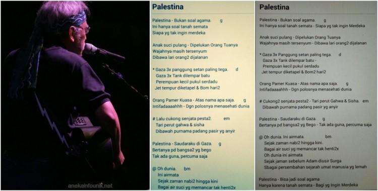 Lirik Lengkap Lagu Palestina Karya Iwan Fals