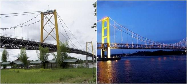 Panjang dan Sejarah Jembatan Barito Banjarmasin