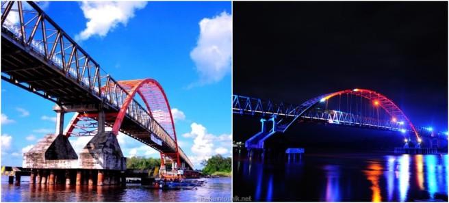 Panjang Jembatan Kahayan, Palangkaraya, Kalimantan Tengah