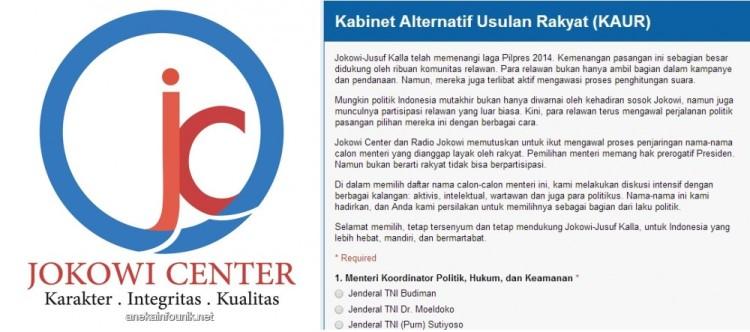Polling Kabinet Alternatif Usulan Rakyat (KAUR)