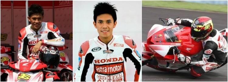 Foto Denny Triyugo, Pembalap Honda Astra Racing Team