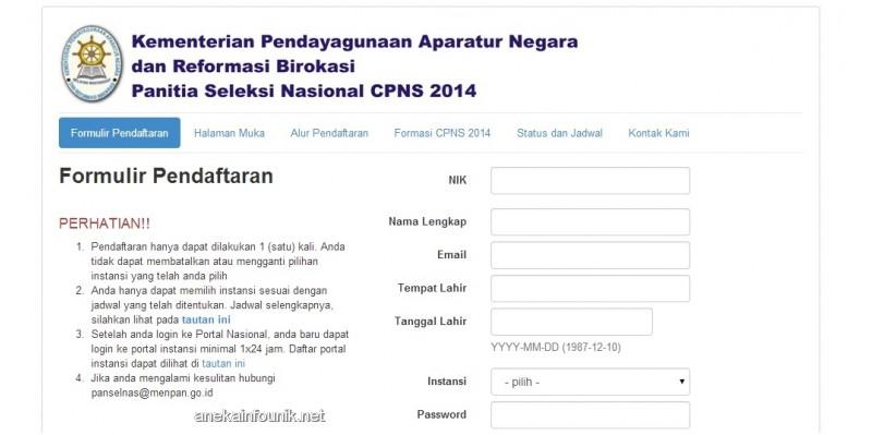Pelamar CPNS 2014 Hanya Boleh Daftar Satu Instansi