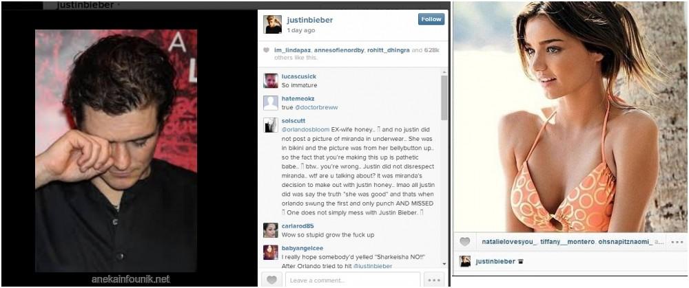 Miranda kerr justin bieber instagram