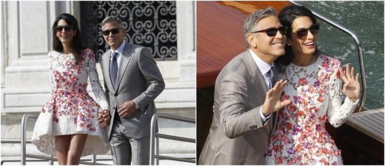 Foto Pernikahan George Clooney dan Amal Alamuddin