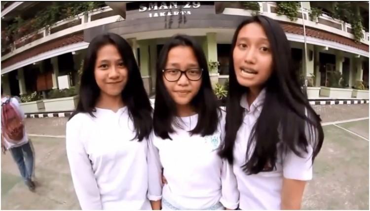 3 Siswa SMAN 29 Jakarta yang membintangi iklan Splash After Clash