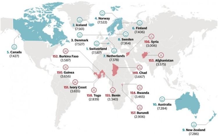 Ini daftar peringkat 158 negara paling bahagia di dunia 2015   aneka