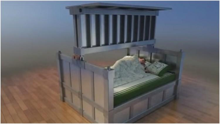 tempat tidur ini bisa lindungi anda saat gempa terjadi