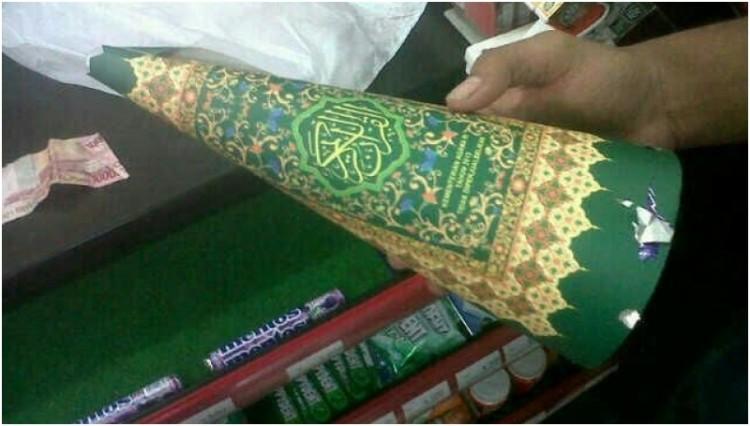 Terompet berbahan sampul Al Quran yang membuat heboh