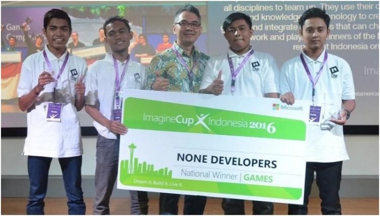 None Developers menjadi juara pertama di Imagine Cup Indonesia 2016