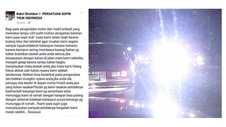 Keluhan mobil pengguna lampu LED putih