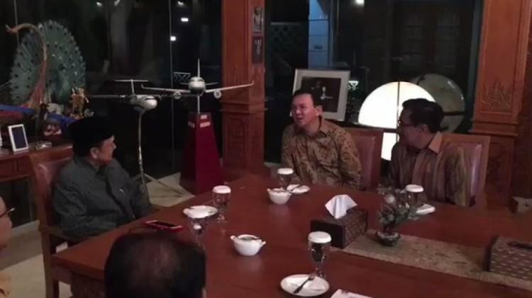 Ahok dan Djarot berkunjung ke kediaman BJ Habibie