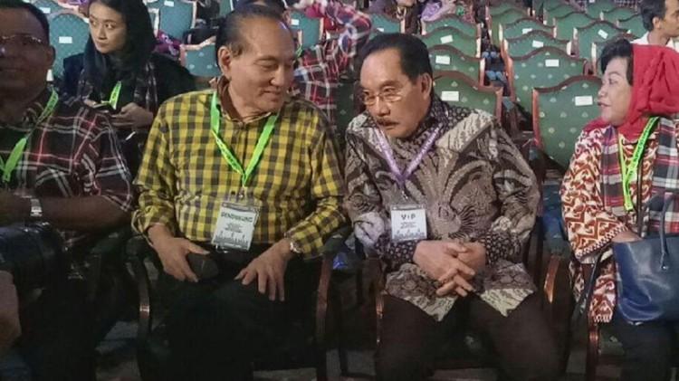 Antasari Azhar usai bertemu Presiden Jokowi di Istana