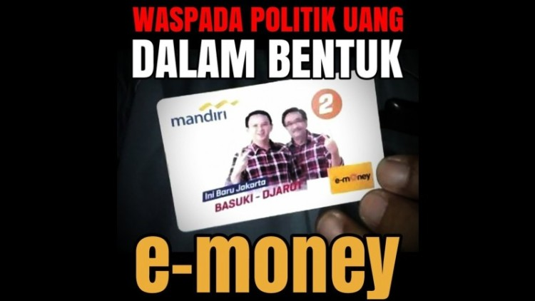 e-money Bank Mandiri bergambar Ahok-Djarot hoax