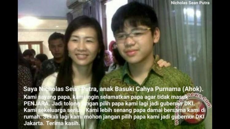 Foto hoax sang anak larang pilih Ahok