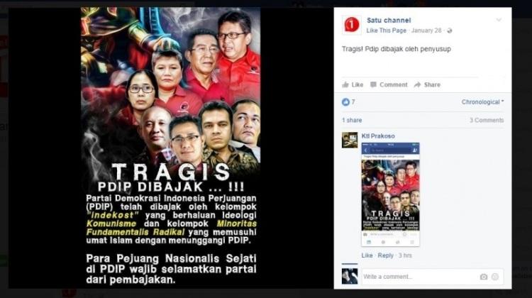 Foto yang diunggah akun Facebook, Satu Channel
