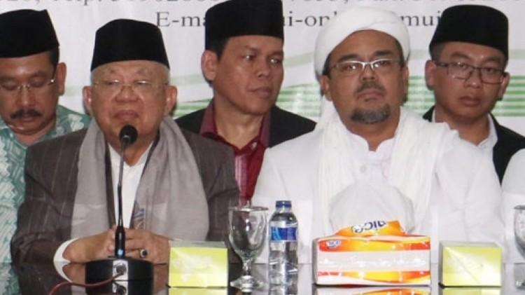 Ma'ruf Amin dan Habib Rizieq Syihab