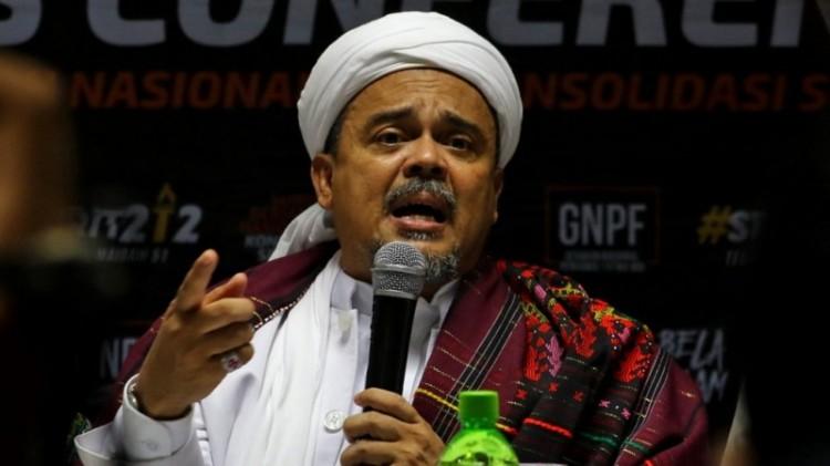 Rizieq Shihab saat berada di Medan