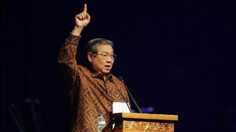 SBY berpidato di perayaan Natal Partai Demokrat
