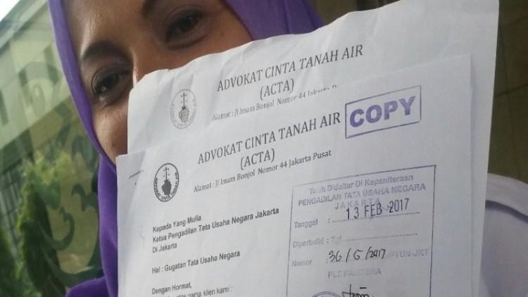 ACTA mencabut gugatan status Ahok di PTUN