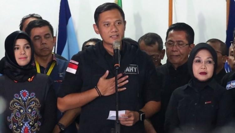 Agus Yudhoyono gelar jumpa pers soal kekalahannya