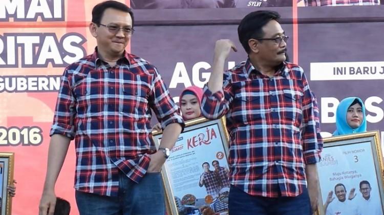 Ahok dan Djarot saat kampanye