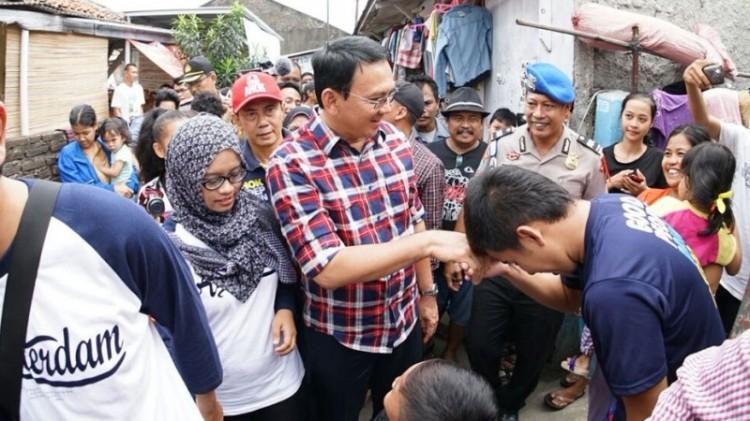 Ahok mengunjungi Kampung Bali, Kalideres