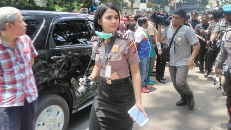 Aksi Bripda Ismi Aisyah saat teror bom panci Cicendo