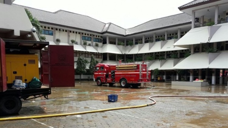 Banjir di SMA 8 Bukit Duri Jaksel sudah surut