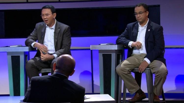 Debat Ahok dan Anies Baswedan di NET TV