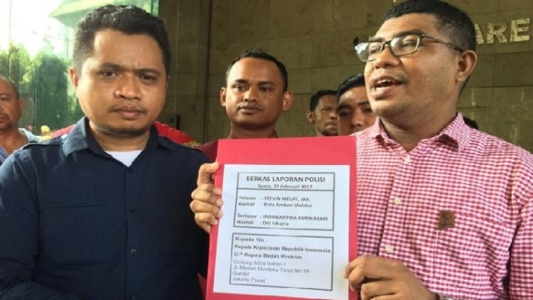 Forum Masyarakat Maluku melaporkan Indrisantika Kurniasari