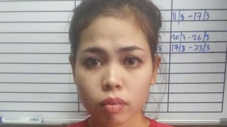 Foto Siti Aisyah menjadi tahanan Malaysia