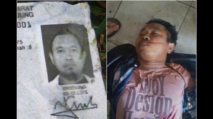 Foto Yayat Cahdiyat saat tewas dan KTP miliknya