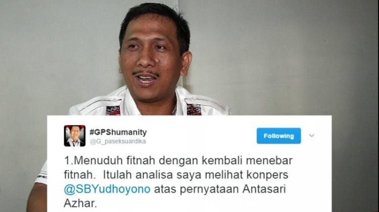 Gede Pasek Suardika menanggapi pernyataan SBY soal Antasari