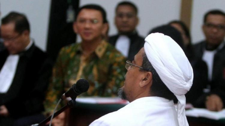 Habib Rizieq di sidang Ahok